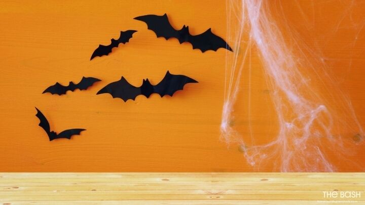 Halloween Zoom Background - Bats and Cobwebs