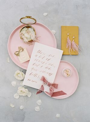 Romantic Earrings and Pink Calligraphy