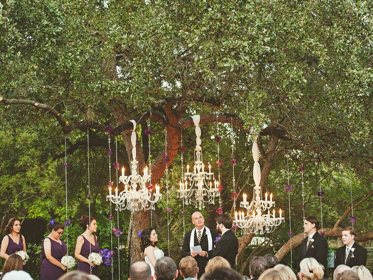 Backyard Wedding Ideas Chandelier