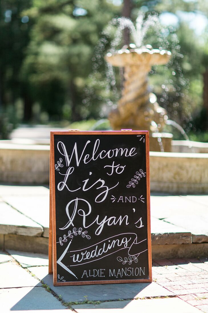 Playful Chalkboard Wedding Sign
