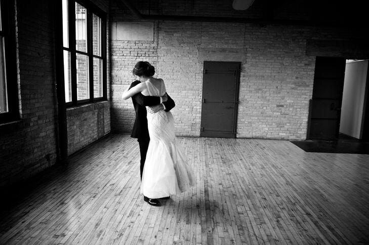 Ines di Santo Lace Applique Wedding Dress