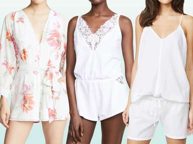17 Bridal Rompers You'll Love Getting Ready In