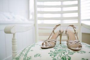 Strappy Nude Wedding Sandals