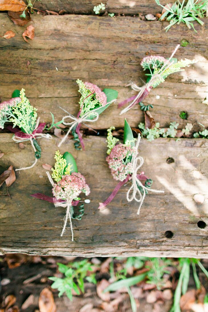 Rustic DIY Boutonnieres