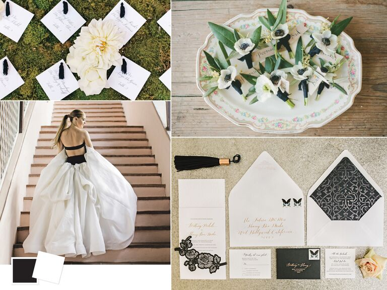 Wedding color palettes we love inspiration for a black and white wedding color palette junglespirit Gallery