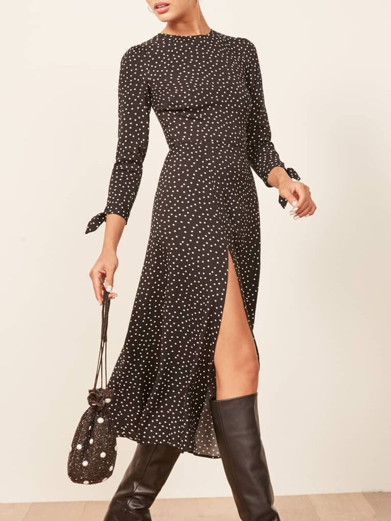 Polka dot dress for casual wedding dress code