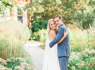 Megan Whalen (26 and a store manager) and Noah Olson (26 and a project coordinator) tied the knot in a rustic summer soiree at Buena Vista Conference