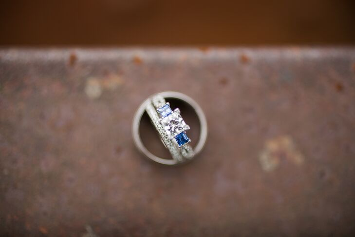 Silver Diamond Ring With Topaz