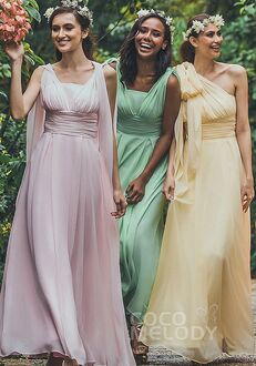 CocoMelody Bridesmaid Dresses JOZF15001 Halter Bridesmaid Dress