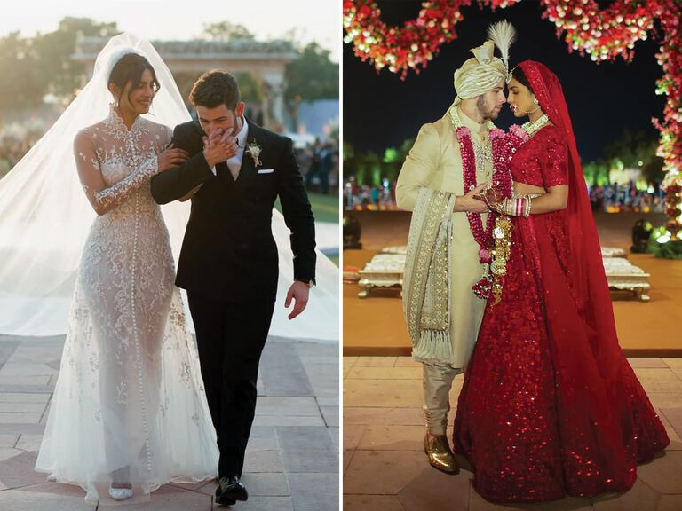 Priyanka Chopra wedding dresses for wedding to Nick Jonas