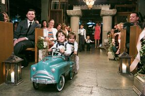 Turquoise Vintage Car Ceremony Processional