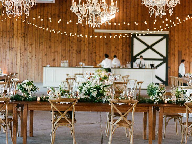 Tented wedding reception entrance