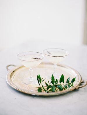 Vintage Gold-Rimmed Champagne Coupes