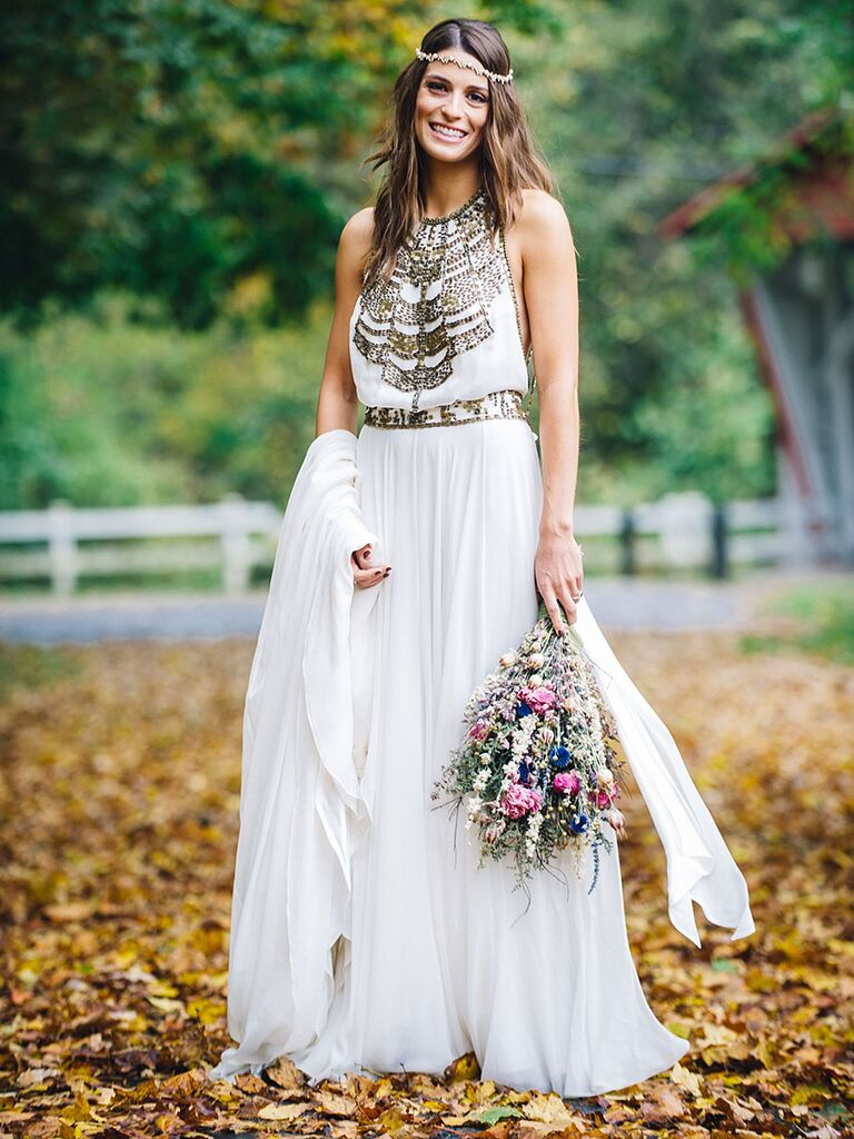 Nontraditional boho wedding dress by Amanda Wakeley