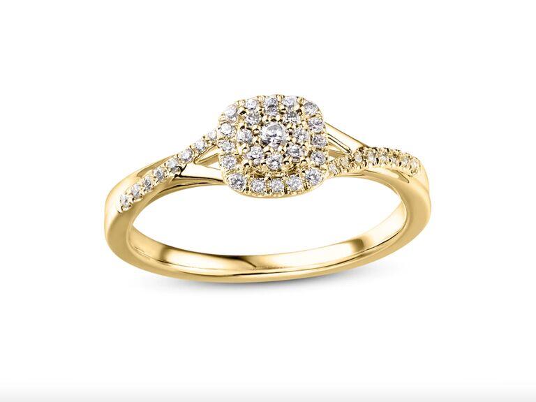 Kay diamond engagement ring in 10K yellow gold