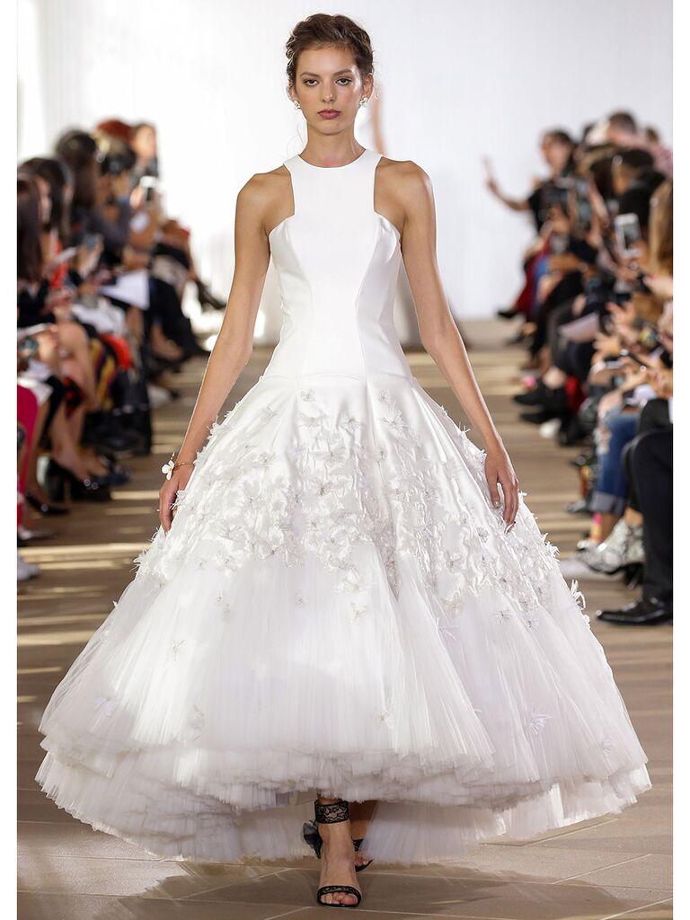 Ines Di Santo wedding dress high-neck ball gown