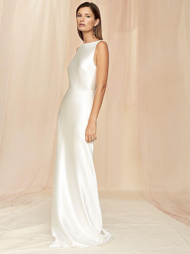 Savannah Miller column dress with high neckline