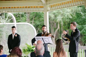 Groomsmen Playing Instruments During the Processional