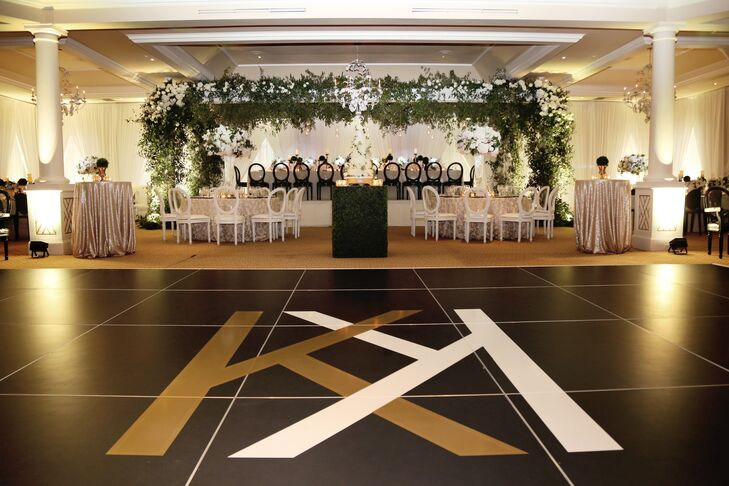 Personalized Dance Floor with Custom Monogram