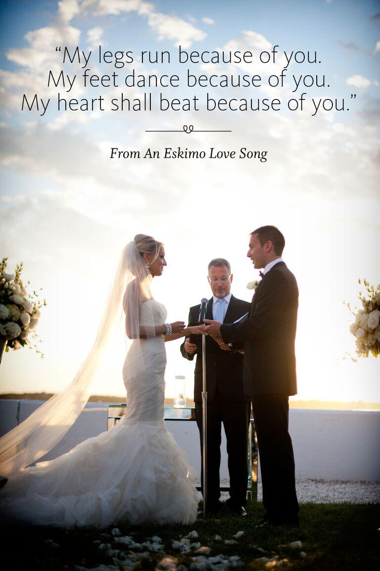 Eskimo Love Song wedding ceremony reading