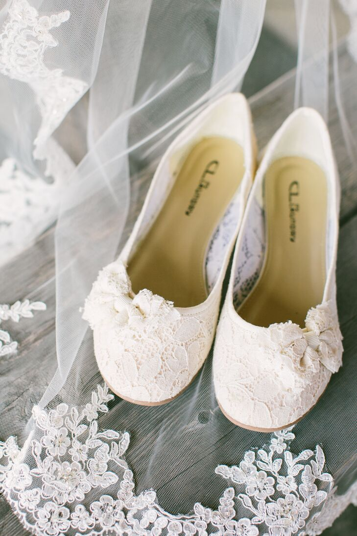 004b29083fc9 Simple Ivory Bridal Flats. Favorite. To stay comfortable all day at a  rustic outdoor venue
