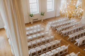 Formal Ceremony Setup for Wedding in Hartford, Connecticut