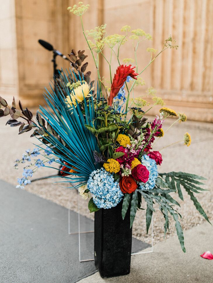 Colorful, Eclectic Flower Arrangements