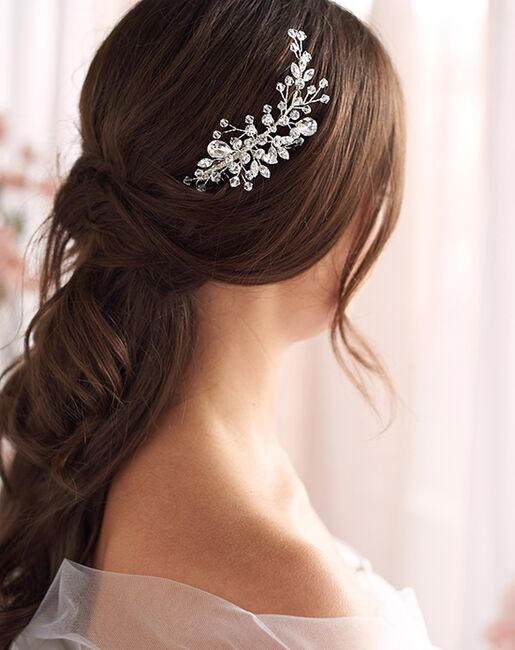 Dareth Colburn Aria Bridal Comb (TC-7090) Silver Pins, Combs + Clip