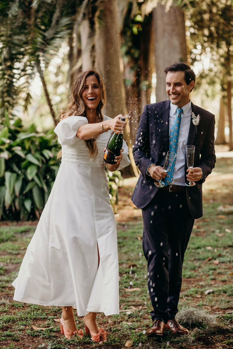 couple marries in a park