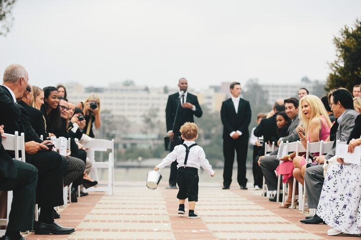 Young Ring Bearer, Outdoor Ceremony