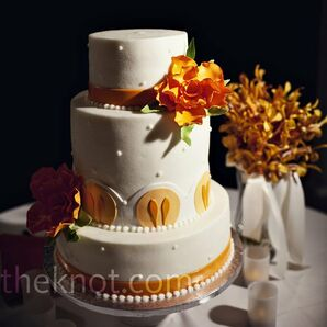 White and Orange Cake