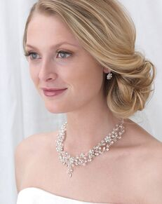 Dareth Colburn Blossom Swarovski Crystal Jewelry Set (JS-1665) Wedding Necklace photo