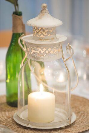 Glowing White Lantern Centerpiece
