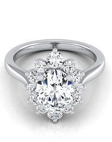 RockHer Glamorous Oval Cut Engagement Ring