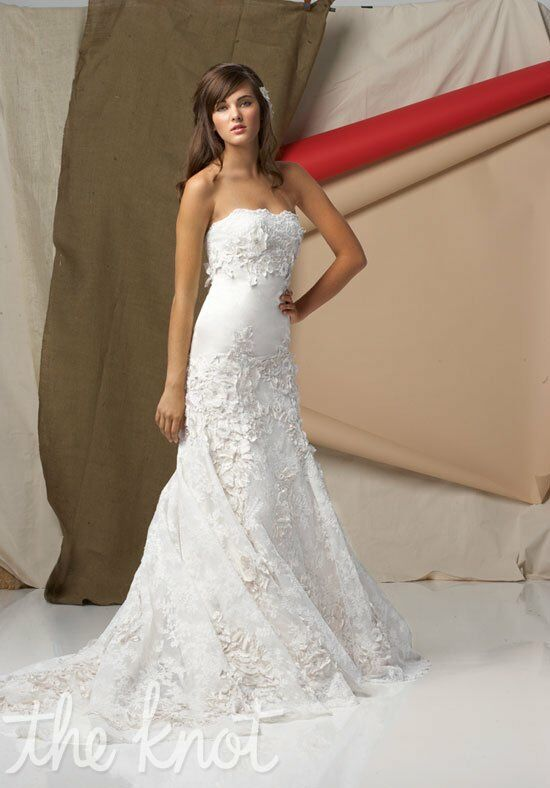 Watters brides 4041b torreon wedding dress the knot for Wedding registry the knot