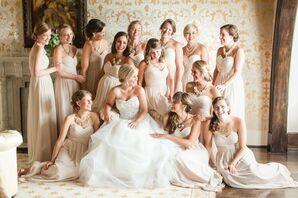 Floor-Length Champagne Bridesmaid Dresses