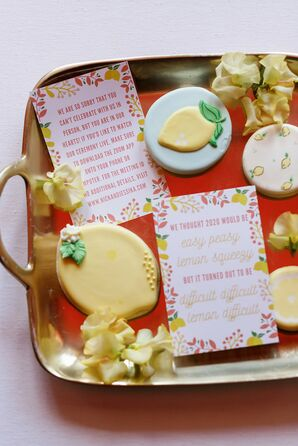 Zoom Invitation Cards and Lemon Cookies to Announce Wedding Changes