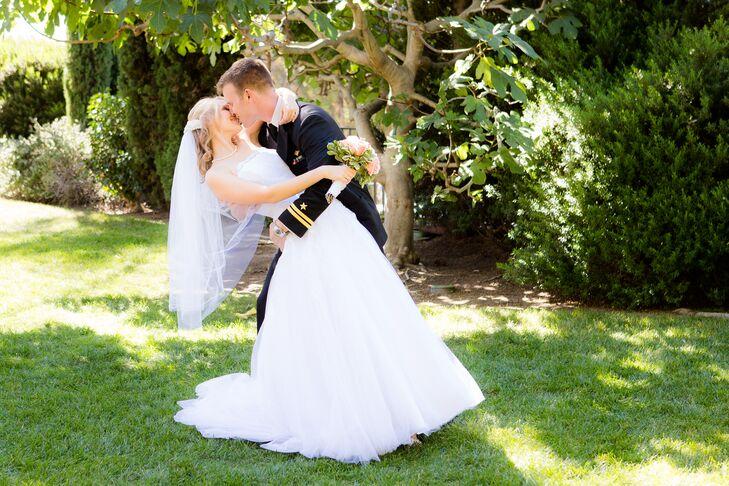 Micaela and Charles Kissing Shot