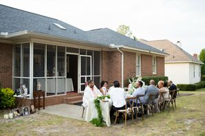 Backyard Seated Reception at Minimony in Columbia, South Carolina