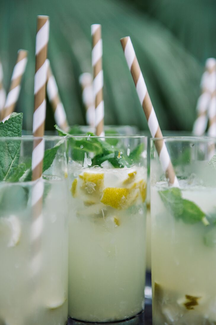 After the ceremony, guests were escorted to the pool area where they were greeted with the signature drink: mojitos (Lona's favorite!).