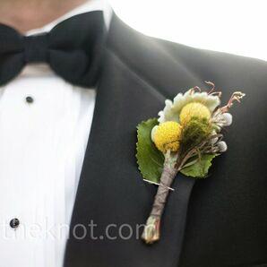 Yellow Wedding Boutonnieres