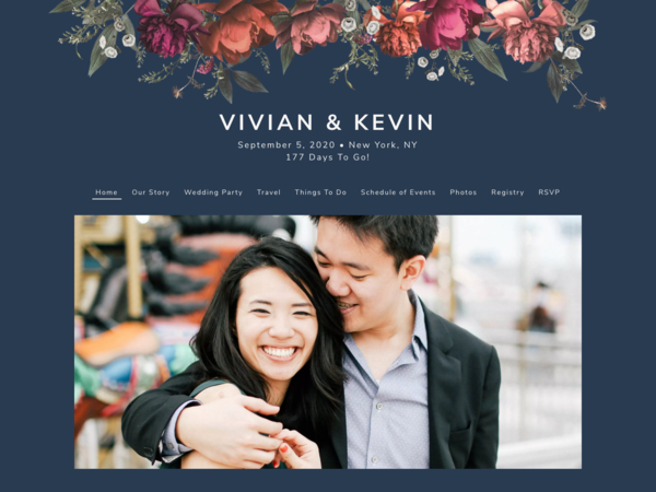 Blooming Botanical Wedding Template, The Knot