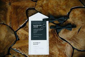 Modern Black-and-White Invitations