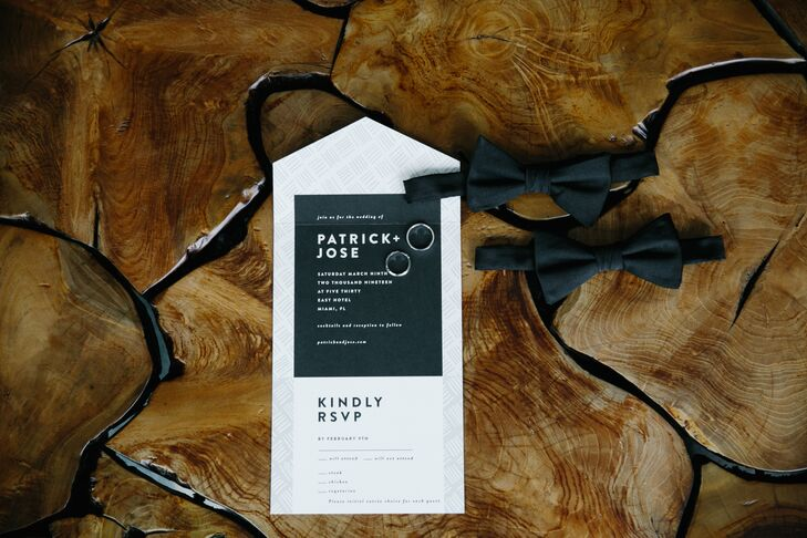 Modern Black-and-White Invitations