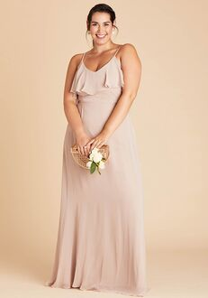 Birdy Grey Jane Convertible Dress Curve in Taupe V-Neck Bridesmaid Dress