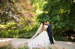 Classic Bride and Groom at The Morton Arboretum