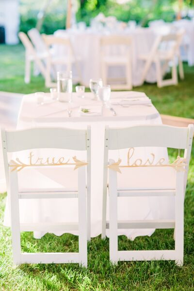 Whimsical Arrow Chair Signs