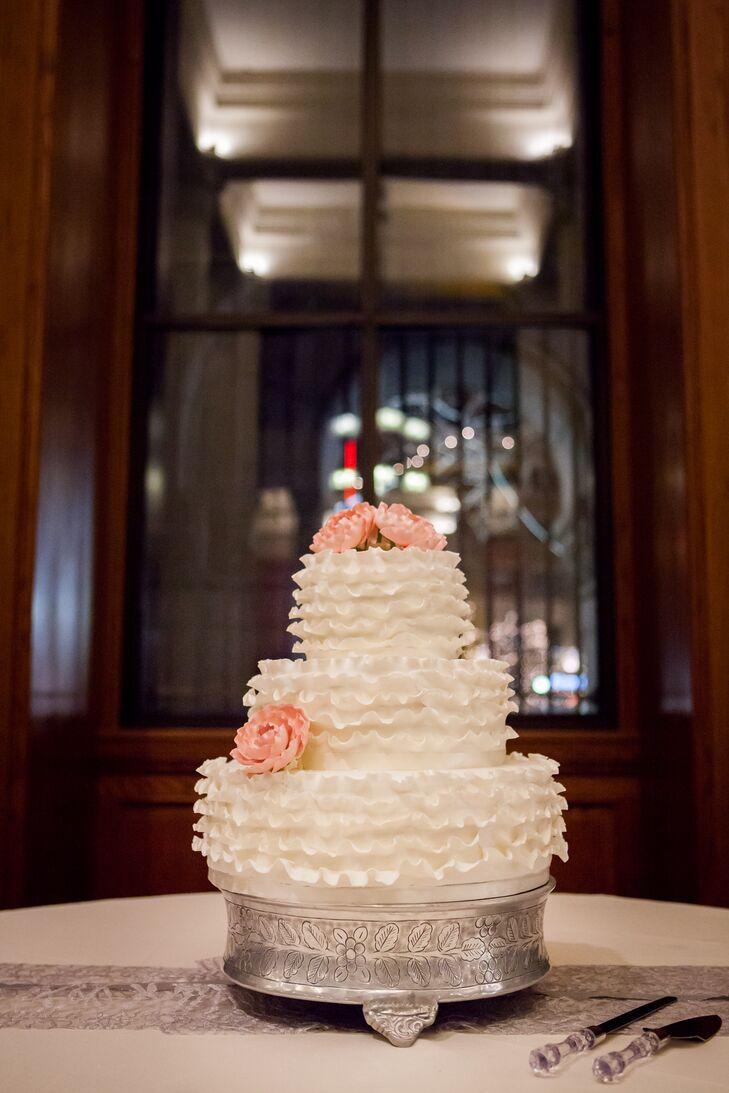 For a special warm winter treat, Emily and Phillip had a custom hot chocolate bar to go along with their wedding cake.