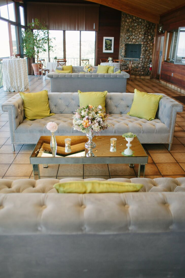Green and Gray Lounge Area