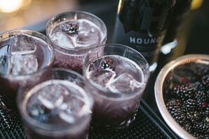 Black Vodka and Black Raspberry Cocktails